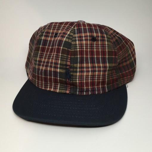 vintage 90's Polo Ralph Lauren Plaid Hat