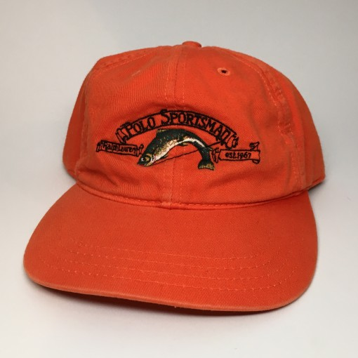 vintage 90's Polo Sportsman Polo Sport fishing hat orange