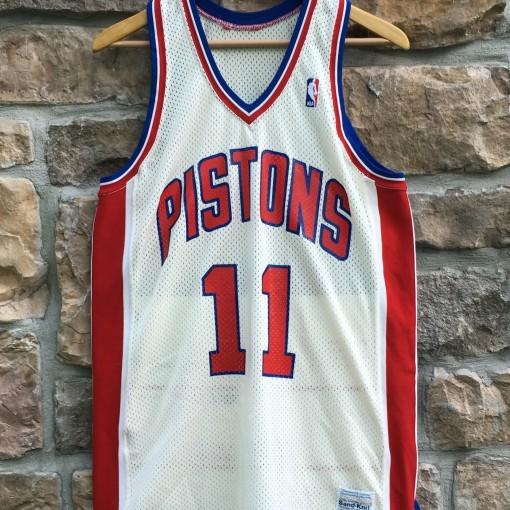 vintage Isiah Thomas Detroit Pistons Sandknit NBA jersey size 46