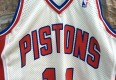 vintage Isiah Thomas Authentic Detroit Pistons 80's jersey