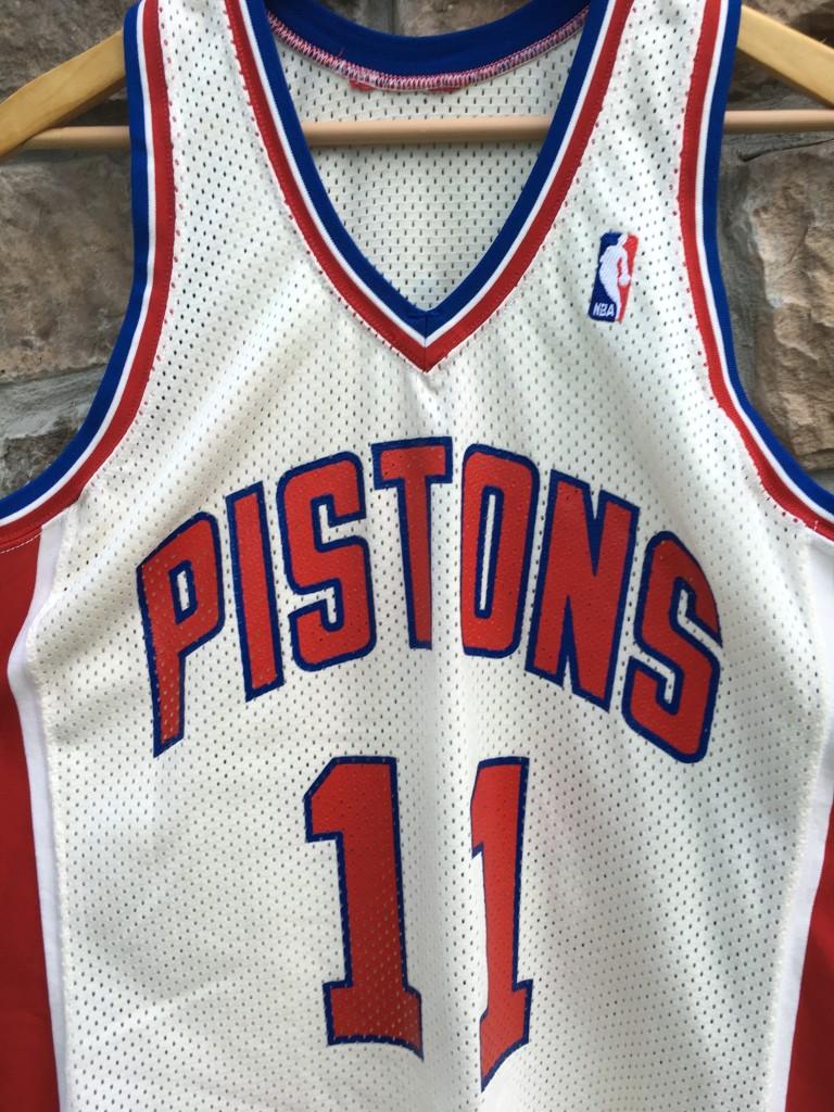 new style 27d77 96b99 1986 Isiah Thomas Detroit Pistons Authentic Sandknit NBA Jersey