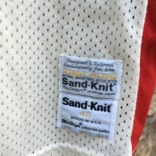 vintage Pistons authentic Sandknit NBA jersey