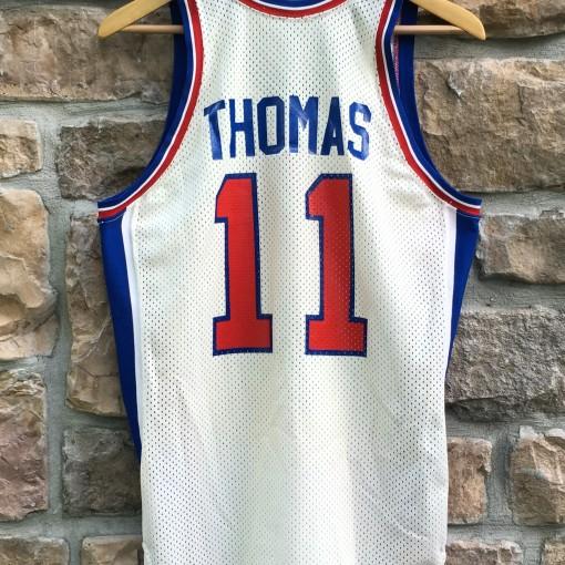 Isiah Thomas vintage White Detroit Pistons jersey