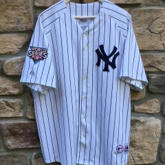 2009 New York Yankees Derek Jeter World Series MLB jersey