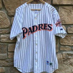 Vintage San Diego Padres Tony Gwynn Authentic Russell Diamond Collection jersey size 48