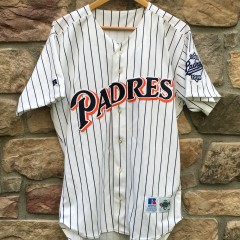 vintage San Diego Padres 1999 Tony Gwynn authentic Russell Diamond Collection MLB jersey size 44