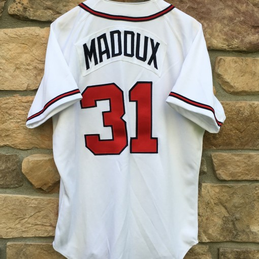 vintage Greg Maddux Atlanta Braves authentic MLB jersey