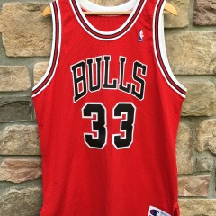 Vintage Authentic Scottie Pippen Champion Chicago Bulls NBA jersey size 48