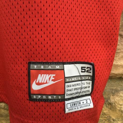 size 52 pro cut alonzo mourning miami heat red alternate jersey size 52+2