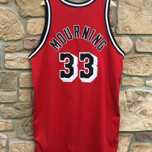 alonzo mourning authentic red alternate Miami heat NBA jersey