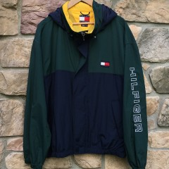 Vintage Tommy Hilfiger colorblock windbreaker jacket