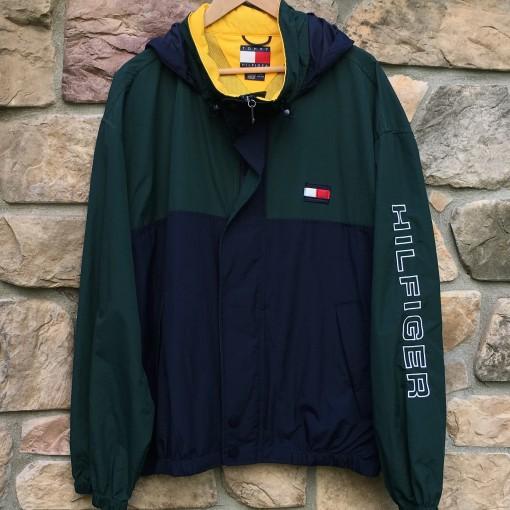 Vintage Tommy Hilfiger colorblock windbreaker jacket