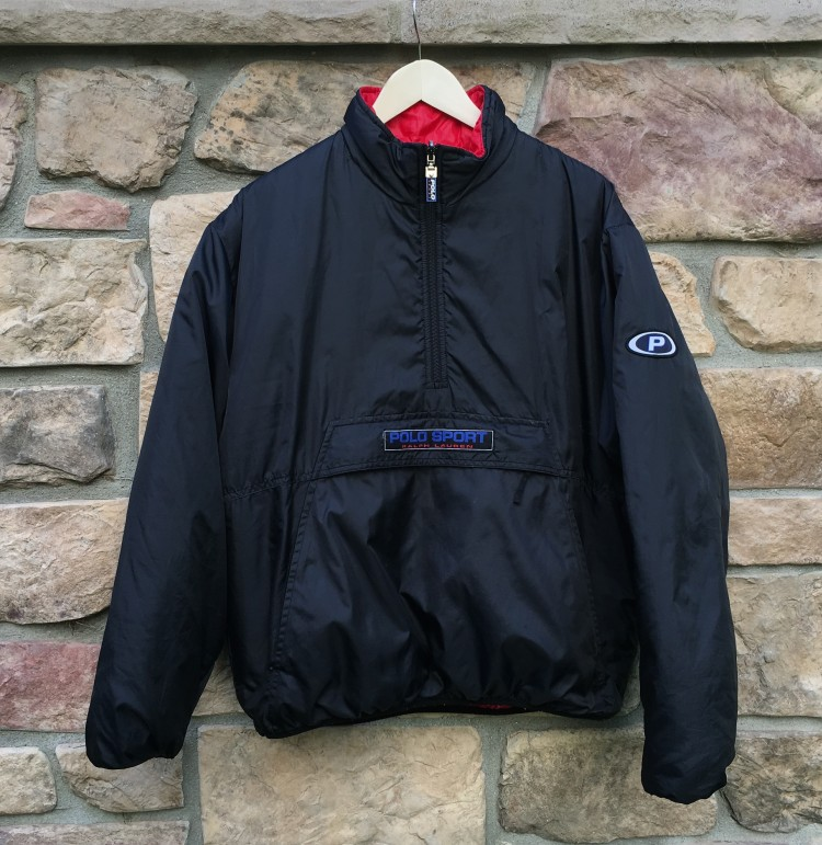 bc37b74c 90's Polo Ralph Lauren Polo Sport Reversible Jacket Size Medium