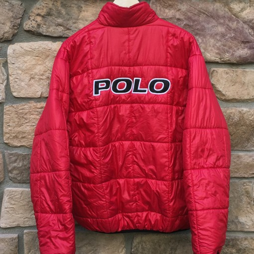 vinage Polo Spell out polo sport jacket