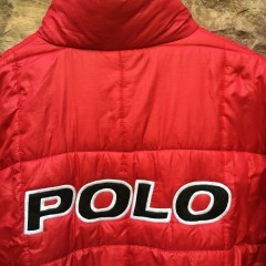 Vintage Polo Sport spell out puffy jacket
