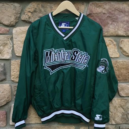 Vintage Michigan State Starter pullover jacket size medium