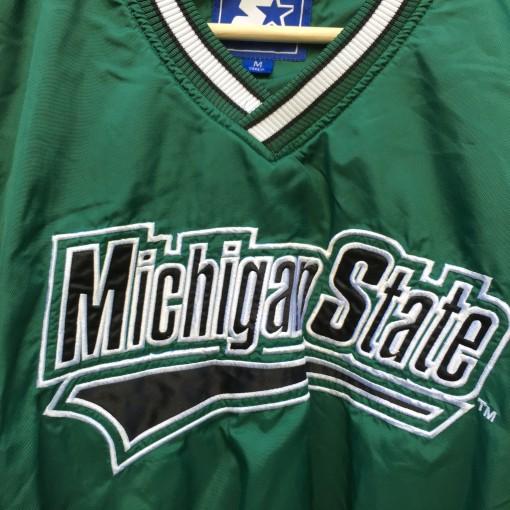 Vintage 90's Michigan State Starter pullover jacket