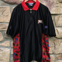 authentic Philadelphia 76ers Champion black warm up shooting shirt