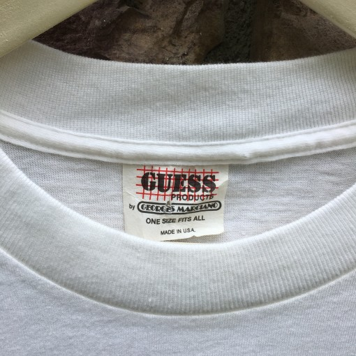 vintage 80's Guess jeans tag t shirt