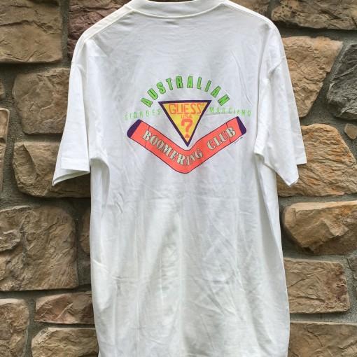 vintage 80's Guess Boomerang Club T shirt Australia