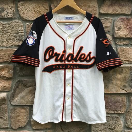 vintage 90's Baltimore Orioles Starter script baseball jersey