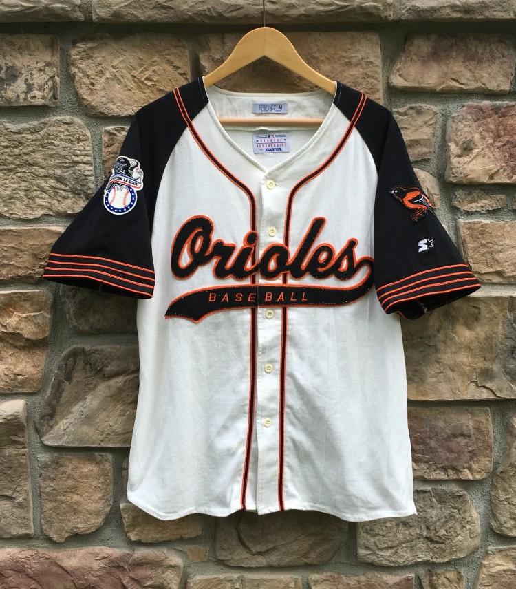 7da079df1b7 90 s Baltimore Orioles Starter Script MLB Jersey Size Medium
