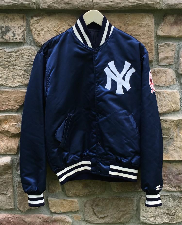 3e562ab8a 90's New York Yankees Starter MLB Satin Jacket Size Large