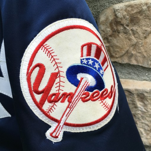 Yankees patch on starter jacket