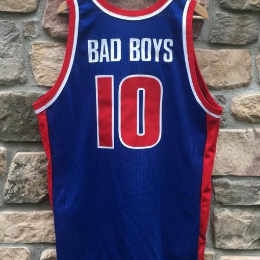 Rare Vntg Bad Boys Pistons Style custom jersey