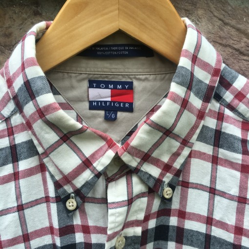 vintage tommy hilfiger button up shirt