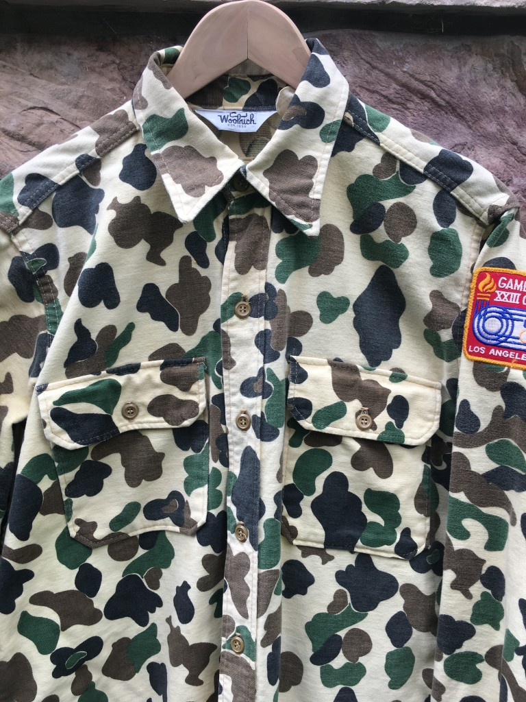Rare Vntg 89 80 S Baby Chamois Camo Button Up Shirt