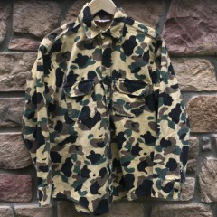 Rare Vntg camo button up shirt