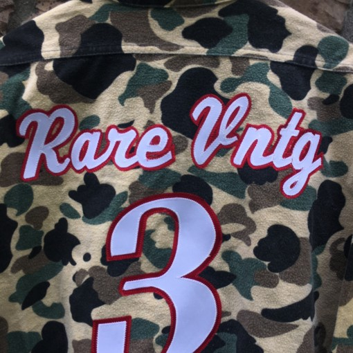 Rare Vntg AI #3 inspired camo button down shirt