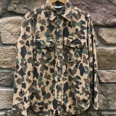 vintage Rare Vntg camo woolrich custom shirt