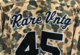 Jordan 45 inspired camo button up shirt rare vntg