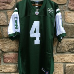2008 Authentic Brett Favre New York Jets Reebok NFL equipment jersey