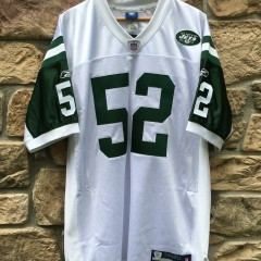 vintage reebok david harris new york jets authentic jersey