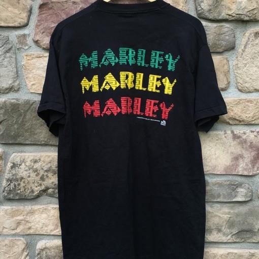 Vintage 90's Bob Marley Marley Marley t shirt