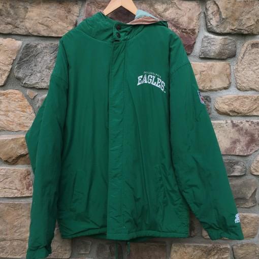 vintage Kelly green philadelphia Eagles jacket