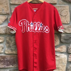 vintage 90's authentic Philadelphia Phillies Mitch Williams diamond collection authentic jersey