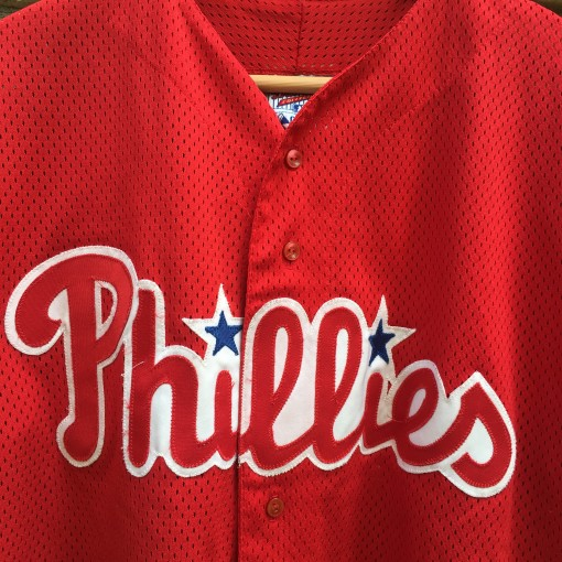 vintage authentic 90's phillies jersey