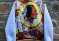 Vintage 90's Washington Redskins chalkline fanimation jacket size large