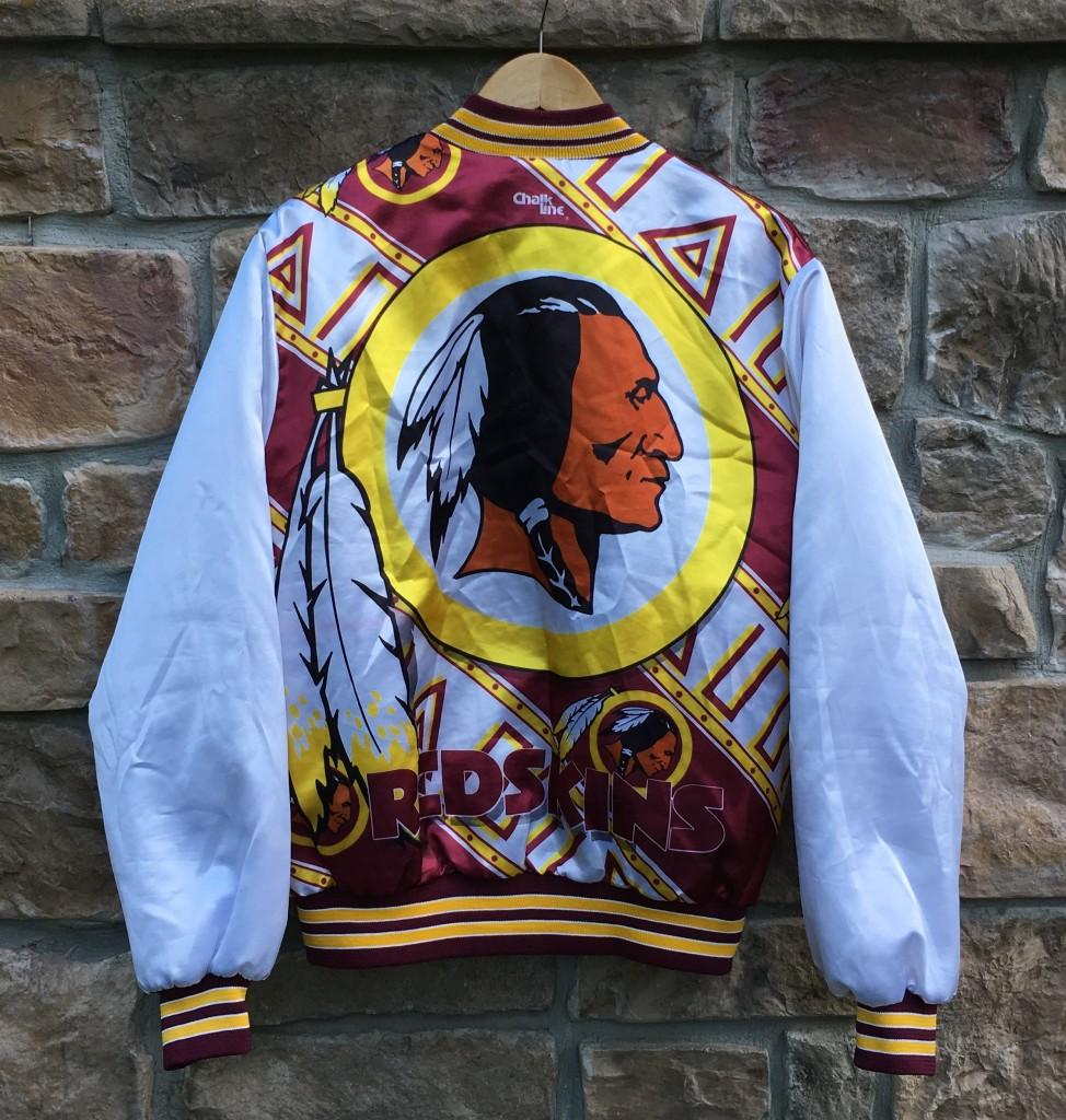 109655c0 90's Washington Redskins Chalkline NFL Fanimation Jacket Size Large