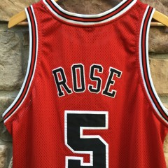 Jalen Rose authentic chicago bulls jersey size 52