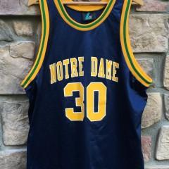 vintage 90's notre dame basketball jersey