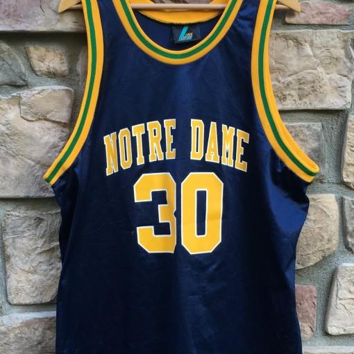 70d8ee819 90 s Notre Dame Fighting Irish  30 Logo Athletic NCAA Basketball ...