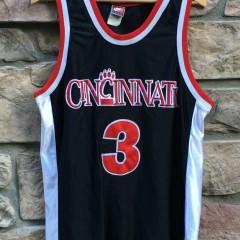vintage 90's Cincinnati Bearcats NCAA basketball jersey #3