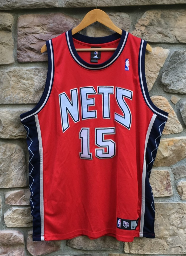 best service 63cf0 0132c 2005 Vince Carter New Jersey Nets Adidas Authentic NBA Jersey Size 48