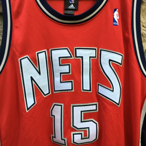Vince Carter authentic red alternate new jersey nets jersey
