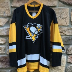 Vintage Pittsburgh Penguins 80's CCM nhl hockey jersey